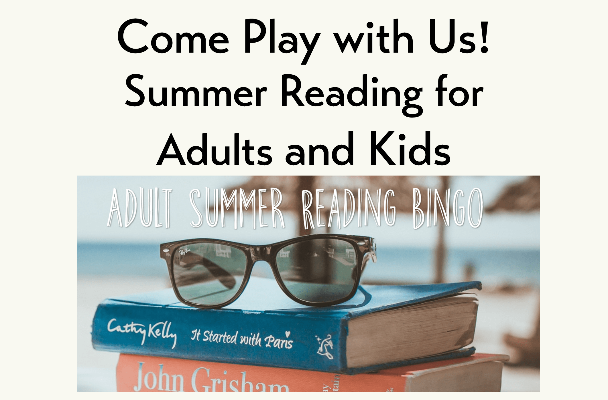 Summerreadingfeaturedadults; Kids Summer Reading
