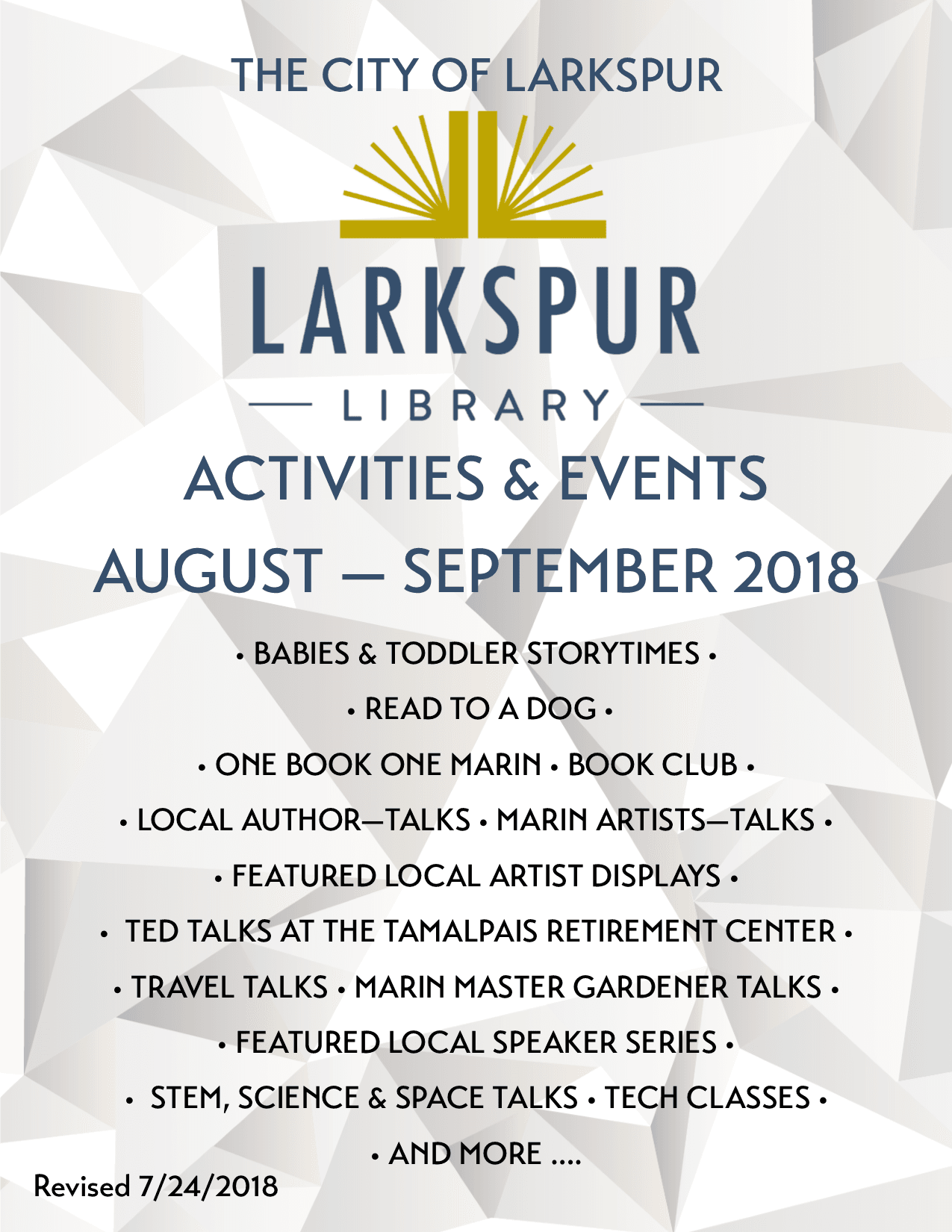 1 2018 Event Brochure August-September